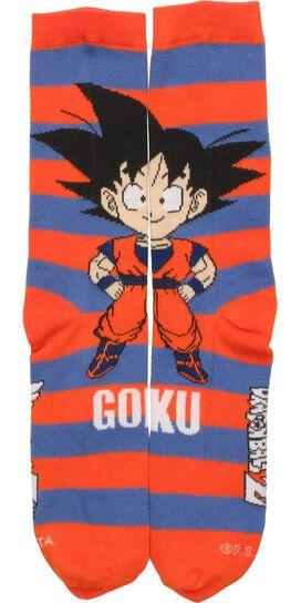 Dragon Ball Z Chibi Goku and Name Crew Socks
