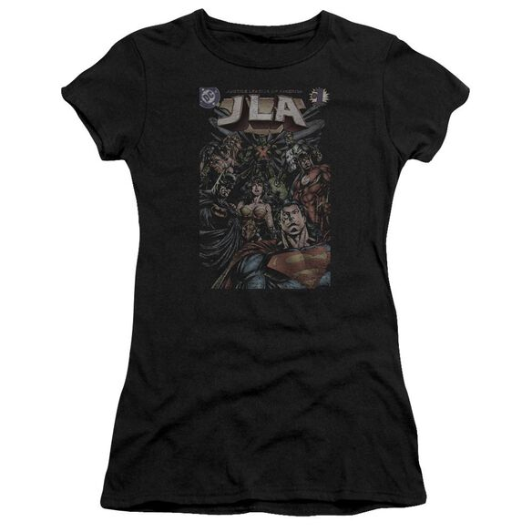 Jla #1 Cover Short Sleeve Junior Sheer T-Shirt