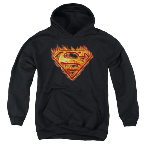 Superman Hot Metal Youth Pull Over Hoodie