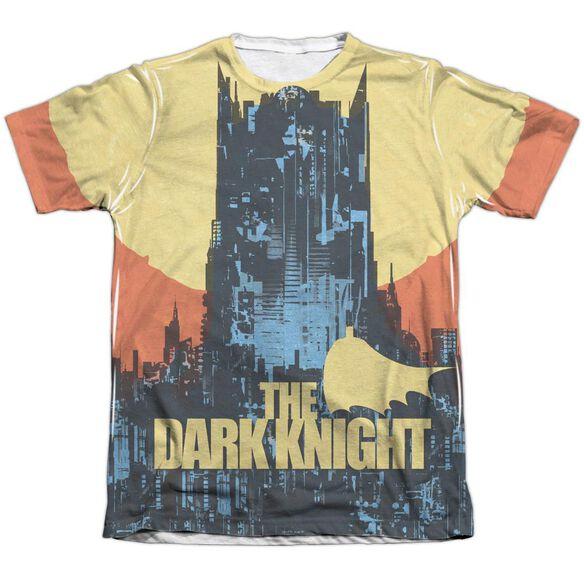 Batman Bat Building Adult Poly Cotton Short Sleeve Tee T-Shirt