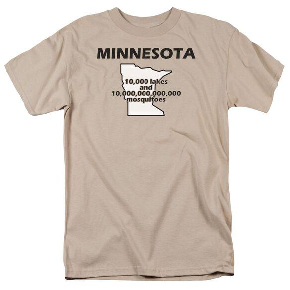 Minnesota Short Sleeve Adult Sand T-Shirt