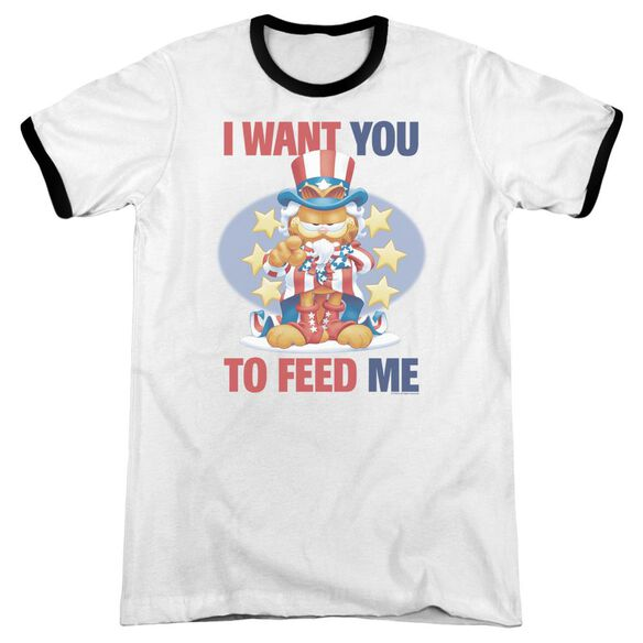 Garfield I Want You - Adult Ringer - White/black