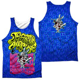Jefferson Airplane Rabbit (Front Back Print) Adult 100% Poly Tank Top
