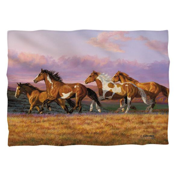 Wild Wings Sunset Cruise 2 Pillow Case White