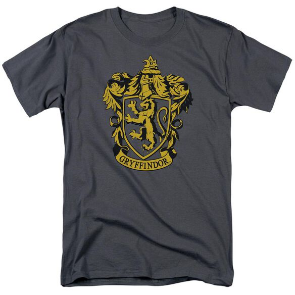 Harry Potter Gryffindor Crest Short Sleeve Adult Charcoal T-Shirt