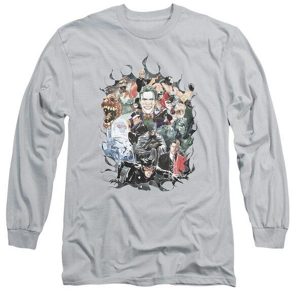 Batman Cape Of Villians Long Sleeve Adult T-Shirt