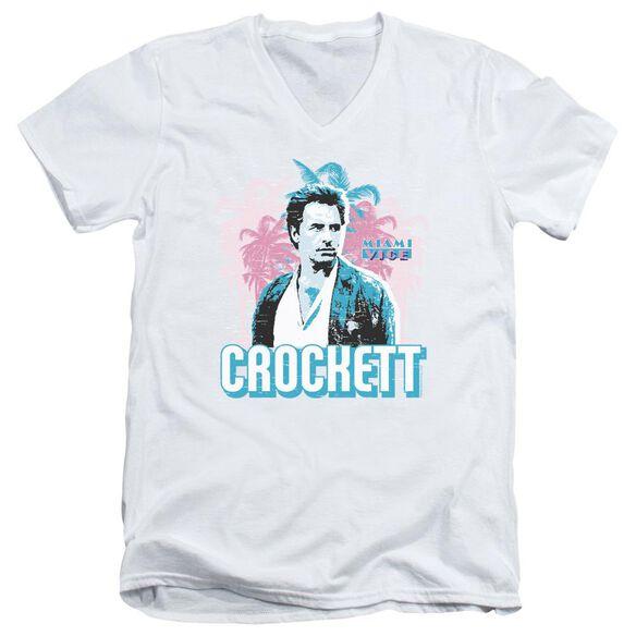 Miami Vice Crockett Short Sleeve Adult V Neck T-Shirt
