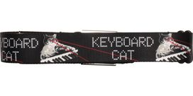 Keyboard Cat Name Laser Eyes Seatbelt Mesh Belt