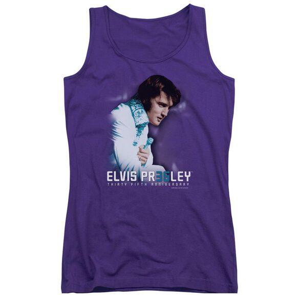 Elvis Presley 35 Th Anniversary 2 Juniors Tank Top