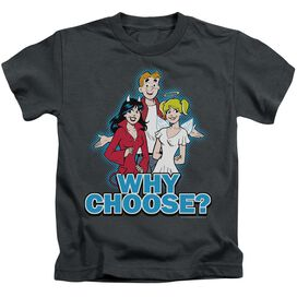 Archie Comics Why Choose Short Sleeve Juvenile Charcoal Md T-Shirt
