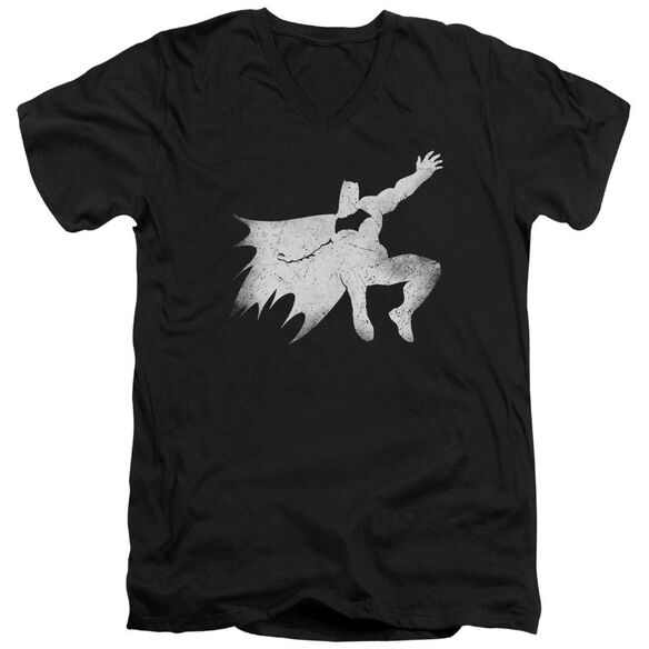 Batman V Superman Knight Silhouette Short Sleeve Adult V Neck T-Shirt