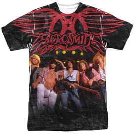 Aerosmith Stage Short Sleeve Adult Poly Crew T-Shirt