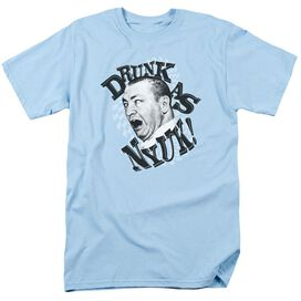 THREE STOOGES DRUNK - S/S ADULT 18/1 - LIGHT BLUE T-Shirt