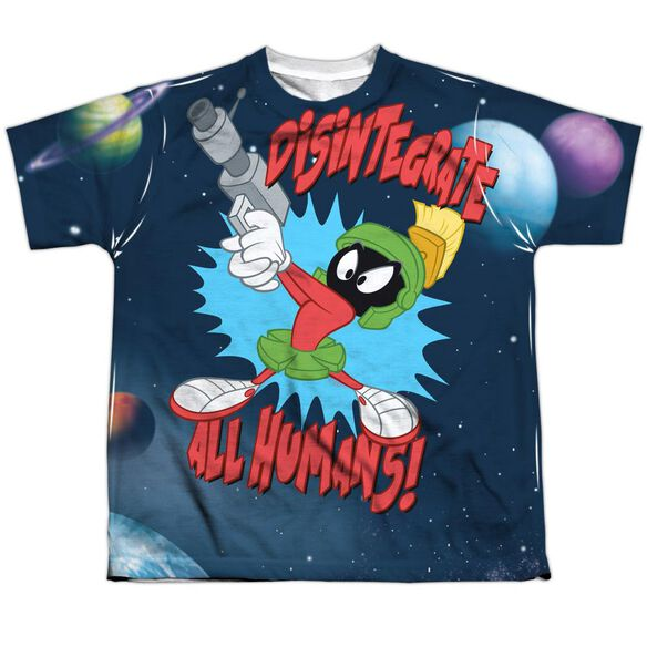 Looney Tunes Disintegrate Short Sleeve Youth Poly Crew T-Shirt