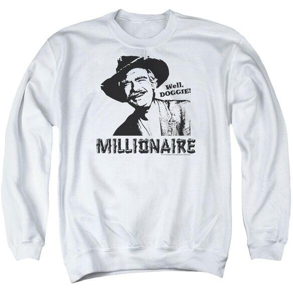 Beverly Hillbillies Millionaire - Adult Crewneck Sweatshirt - White