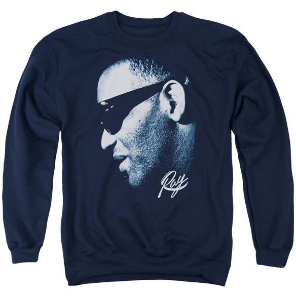 Ray Charles Blue Ray Adult Crewneck Sweatshirt