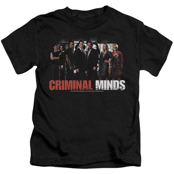 Criminal Minds The Brain Trust Short Sleeve Juvenile Black T-Shirt