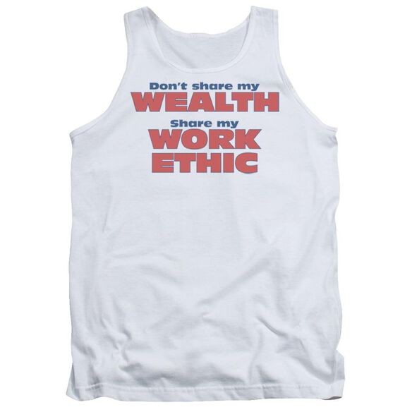 Share My Work Ethic Adult Tank