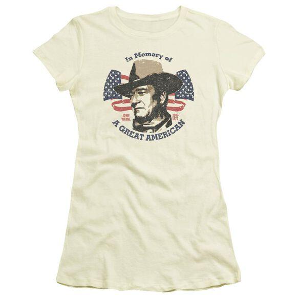 John Wayne Great American Short Sleeve Junior Sheer T-Shirt