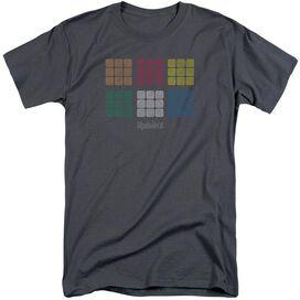 Rubik's Cube Minimal Squares Short Sleeve Adult Tall T-Shirt