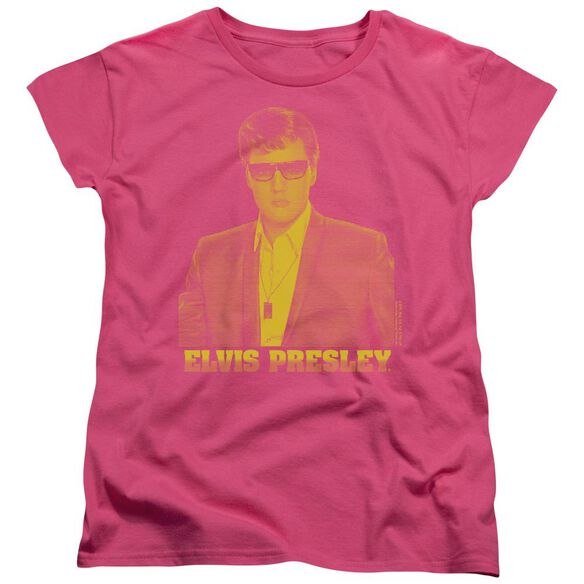 Elvis Presley Yellow Elvis Short Sleeve Womens Tee Hot T-Shirt