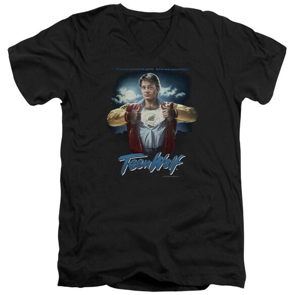 Teen Wolf Poster Short Sleeve Adult V Neck T-Shirt