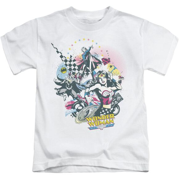 Dc Power Trio Short Sleeve Juvenile White T-Shirt