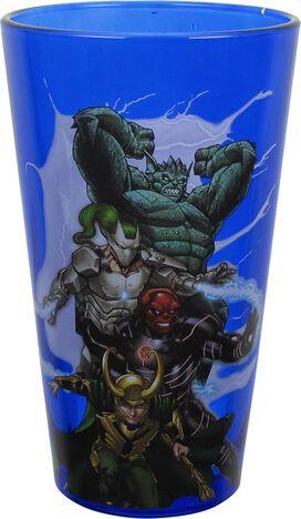 Avengers Heroes and Villains Pint Glass Set