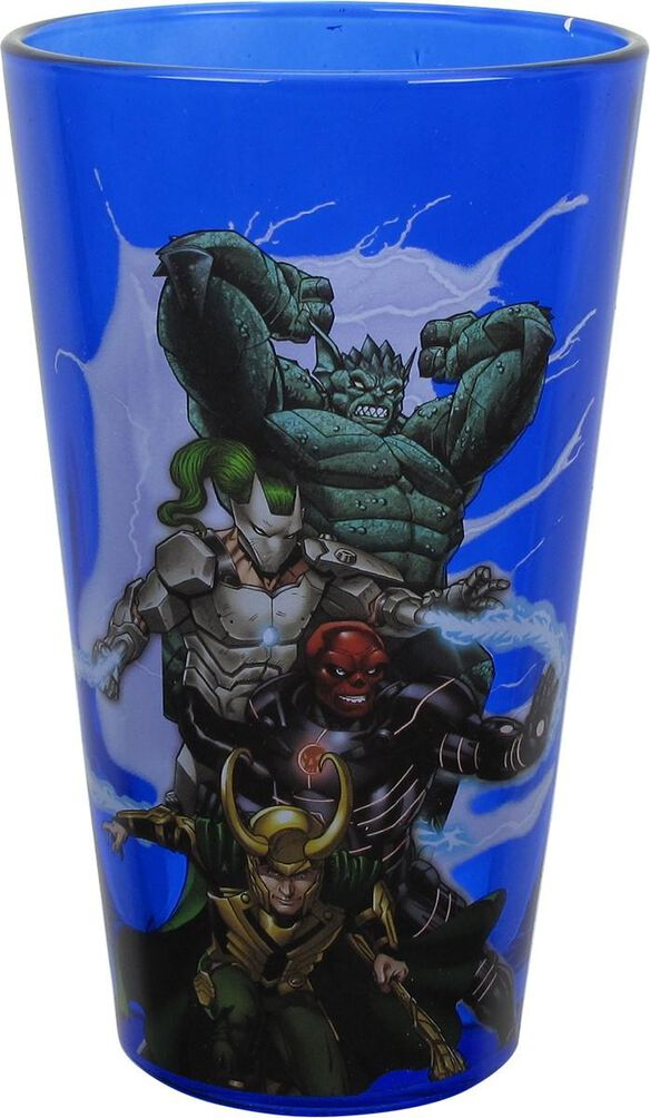Avengers Heroes and Villains Pint Glass Set