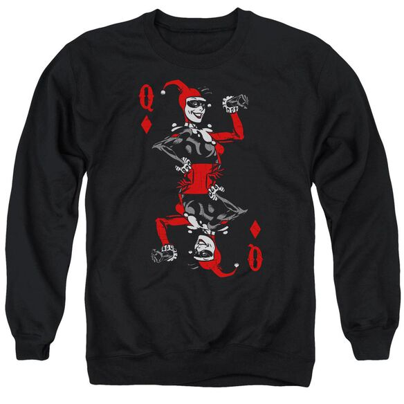 Batman Quinn Of Diamonds Adult Crewneck Sweatshirt