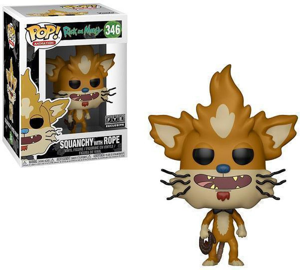 Rick And Morty Fye Bott Funko Pop Birdperson Exclusive Squanchy With Rope