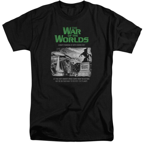 War Of The Worlds Attack People Poster Short Sleeve Adult Tall T-Shirt