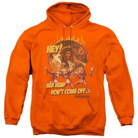 LABYRINTH HEAD DONT COME OFF - ADULT PULL-OVER HOODIE - ORANGE