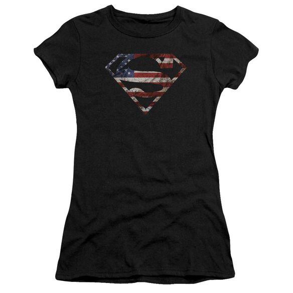 Superman Super Patriot Premium Bella Junior Sheer Jersey