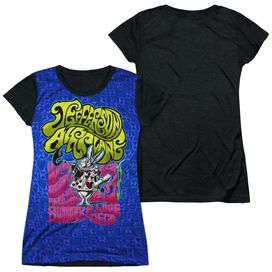 Jefferson Airplane Rabbit Short Sleeve Junior Poly Black Back T-Shirt