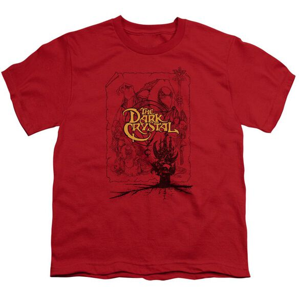 Dark Crystal Poster Lines Short Sleeve Youth T-Shirt