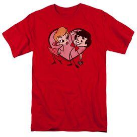 I Love Lucy Cartoon Love Short Sleeve Adult T-Shirt