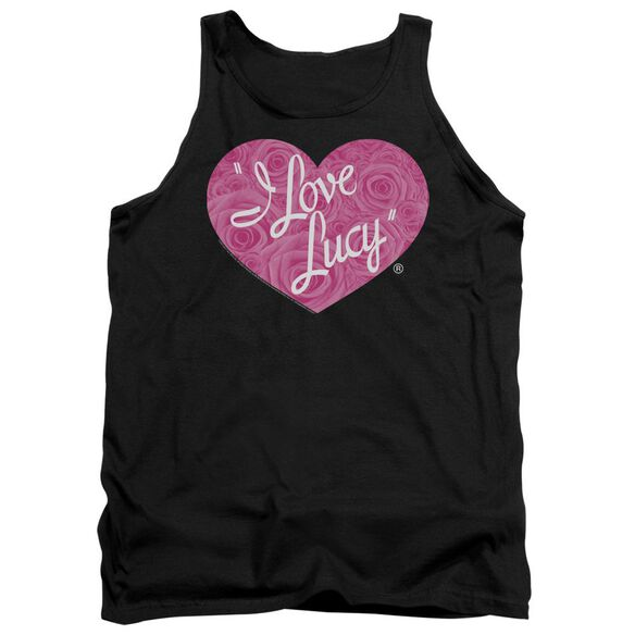 I Love Lucy Floral Logo Adult Tank