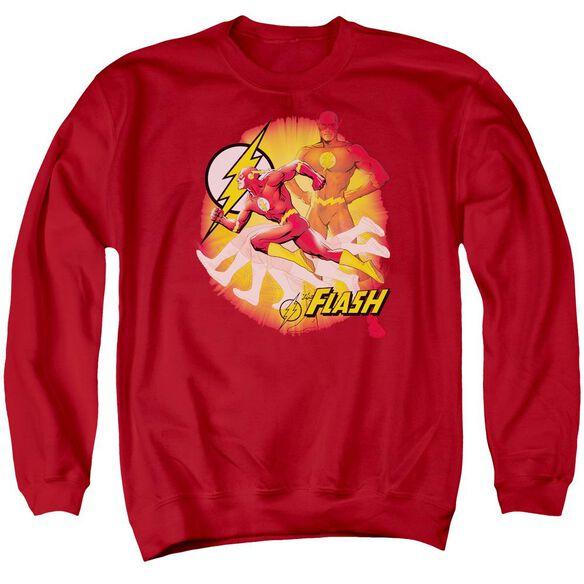 Jla Lightning Fast Adult Crewneck Sweatshirt