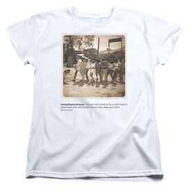 Sandlot Pantywaist Short Sleeve Womens Tee T Shirt White