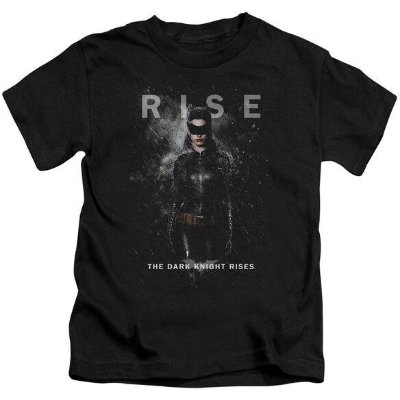 Dark Knight Rises Catwoman Rise Short Sleeve Juvenile Black T-Shirt