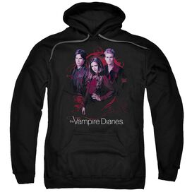 Vampire Diaries Company Of Three Adult Pull Over Hoodie