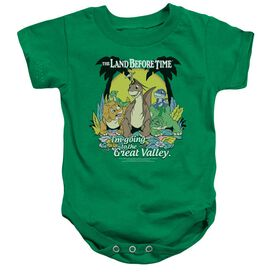 Land Before Time Great Valley - Infant Snapsuit - Kelly Green - Md