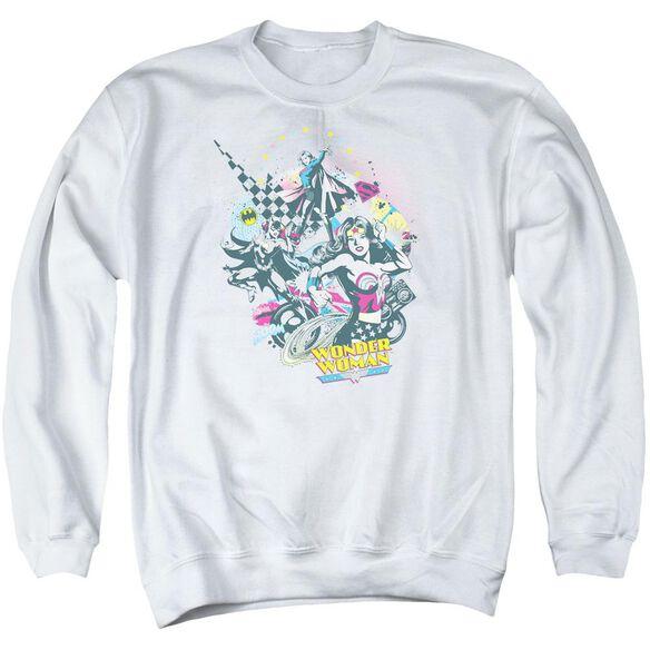 Dc Power Trio Adult Crewneck Sweatshirt