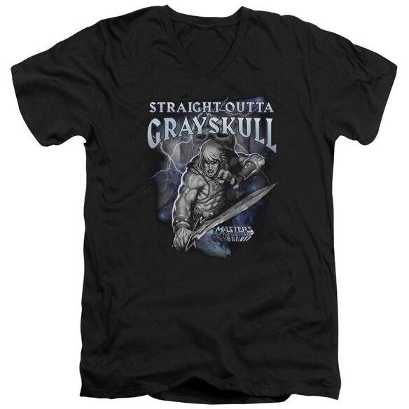 Masters Of The Universe Straight Outta Grayskull Short Sleeve Adult V Neck T-Shirt