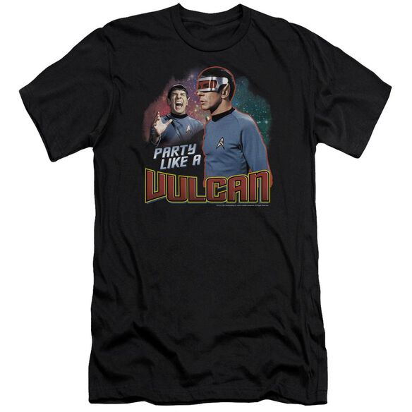 STAR TREK PARTY LIKE A VULCAN - S/S ADULT 30/1 - BLACK T-Shirt