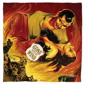 Gone With The Wind Fire Poster Bandana White