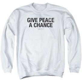 John Lennon Give Peace A Chance Adult Crewneck Sweatshirt
