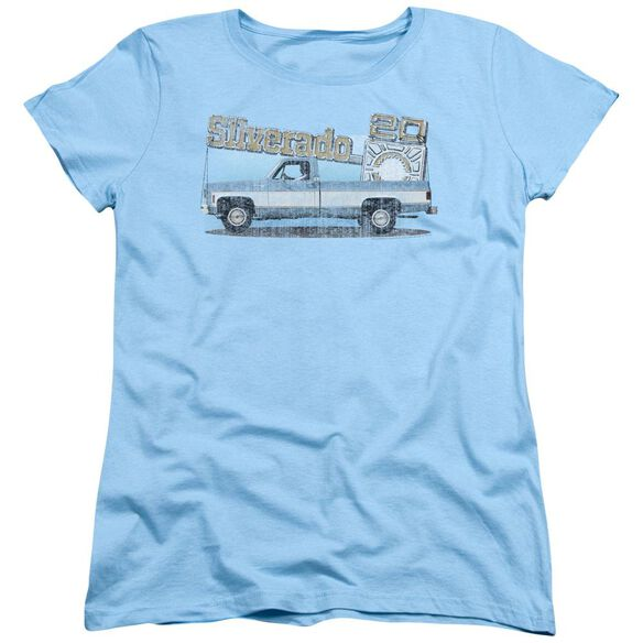 Chevrolet Old Silverado Sketch Short Sleeve Womens Tee Light T-Shirt
