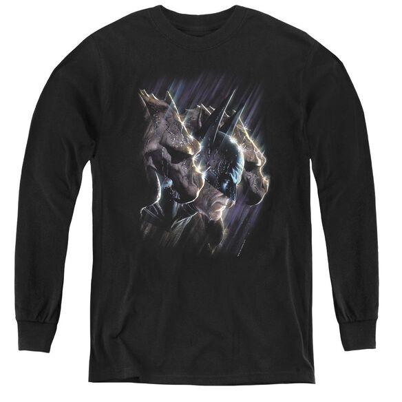 Batman Gargoyles - Youth Long Sleeve Tee - Black